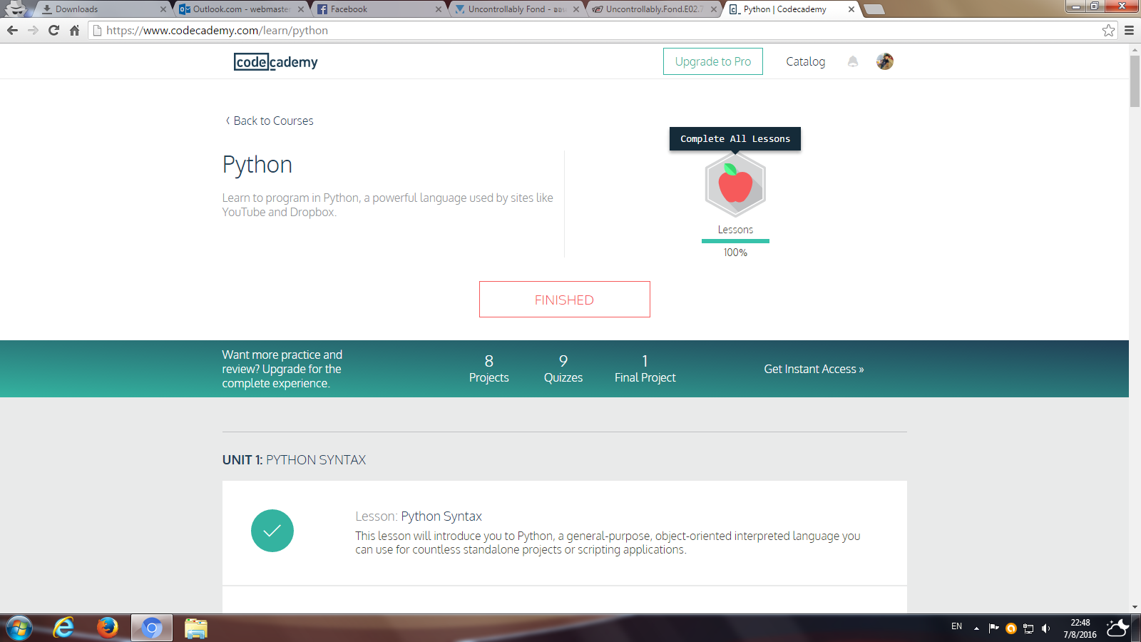 codecademy-python-complete